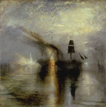 Peace - Burial at Sea, oil painting by J. M. W. Turner