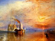 """J.M.W. Turner: """"The fighting Temeraire tugged to her last berth to be broken up"""" (1839)"""