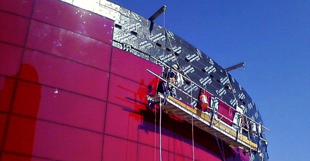 red glass going up