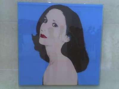 Nancy Nasher portrait by Andy Warhol, take two