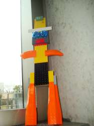 """A """"Lego Man"""" created by a SXSW attendee"""