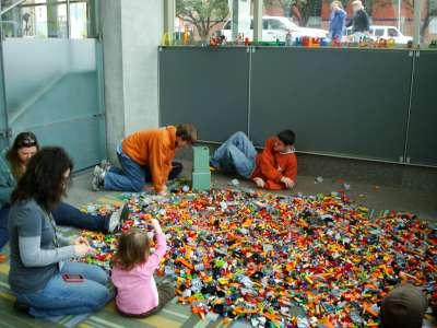 """Lego Corner"" inside the Austin Convention Center."