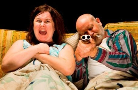 Tina Parker got some practice for her role screaming through The Final Destination by starring in Kitchen Dog Theater's Psychos Never Dream alongside Sean Hennigan.