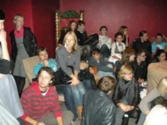 Sometimes screenings took place for large groups of students ...
