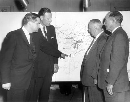 Ben Carpenter (pointing at map)