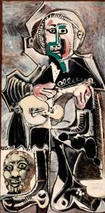 """Pablo Picasso's """"The Guitarist"""