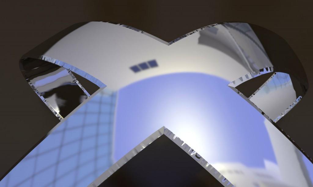 X (detail), computer rendering, Liz Larner, 2013