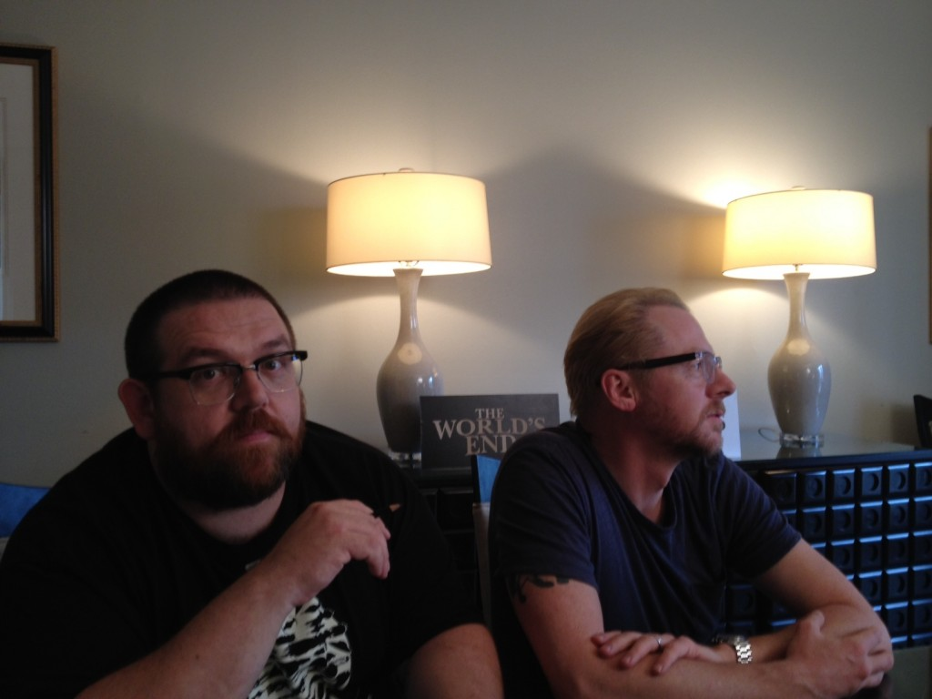 Nick Frost and Simon Pegg discuss their notepad doodling and the decline of British pub culture.