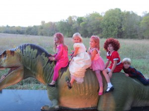 Trick-or-treat with the dinosaurs at Halloween at the Heard (photo Therese Powell
