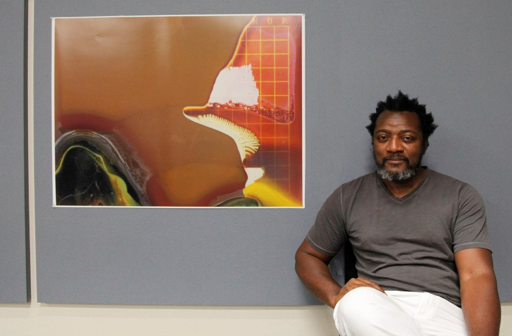 "Christopher Blay refers to his images in the show as ""anti-images."" Photos: Christopher Blay"
