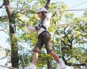 Tip-toe through the tree tops this weekend. (Photo: Trinity Forest Adventure Park)