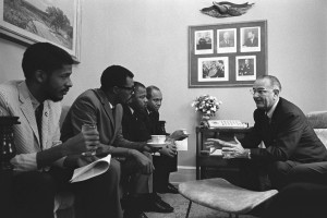 President Lyndon Johnson met with Civil Rights activists in 1965. (Credit Yoichi Okamoto / LBJ Library photo)