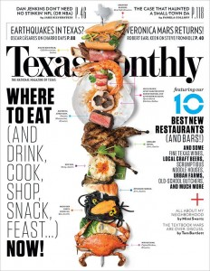 The latest cover of Texas Monthly shows off the state's best new restaurants, including a few in North Texas. (Credit: Texas Monthly)