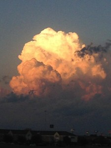 The National Weather Service captured this building cumulus cloud near its Fort Worth office. (Photo credit: National Weather Service)