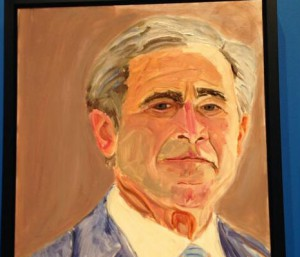 Former President George W. Bush's self-portrait (Photo Credit: Lauren Silverman/KERA News)
