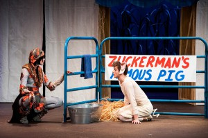 Come say hello to Wilbur and the gang at DCT's production of CHARLOTTE'S WEB. (photo Dallas Children's Theater)