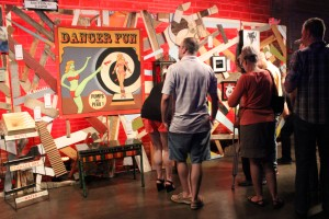 Members of the Dallas arts community gathered on Saturday to bid on curated work for Art Conspiracy's WRECKED event.