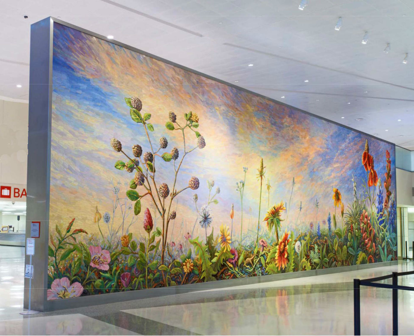 The high five dallas love field public art earns national for Dallas mural artists