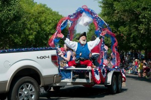 You never know who you'll see that the Lakewood 4th of July Parade
