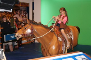 Ride 'em cowgirl at the National Cowgirl Hall of Fame