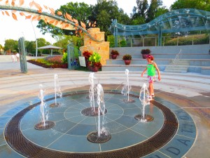The fountains at the Dallas Arboretum's Children's Adventure Garden are a great way to stay cool. (Photo: Therese Powell)