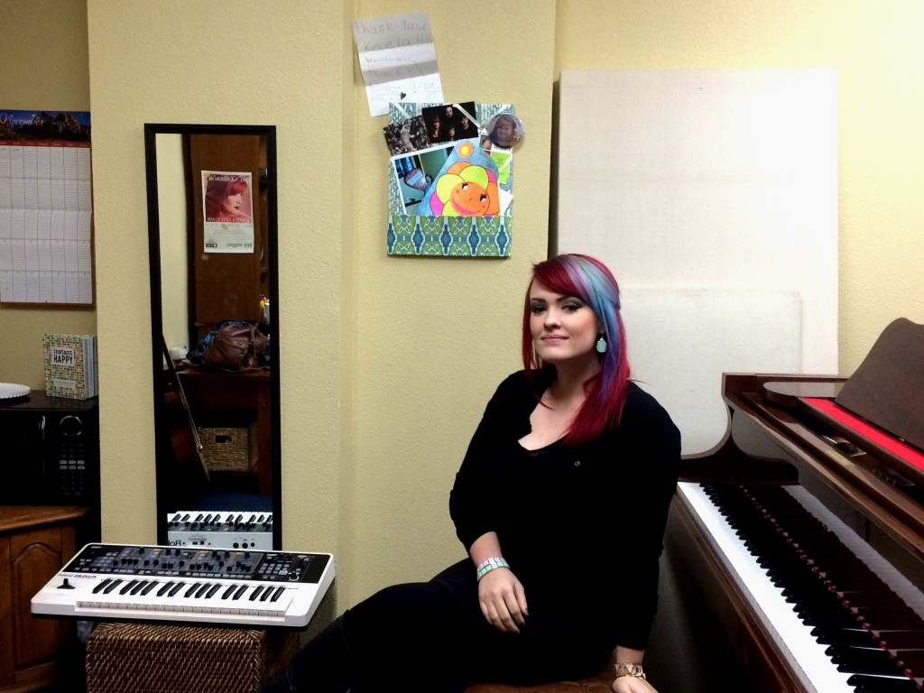 Kaela Sinclair teaches lessons at Hall Music Productions in Southlake.