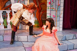 Come root for Belle and boo the Beast at Theatre Britain's production of Beauty and the Beast. (photo: Theatre Britain)