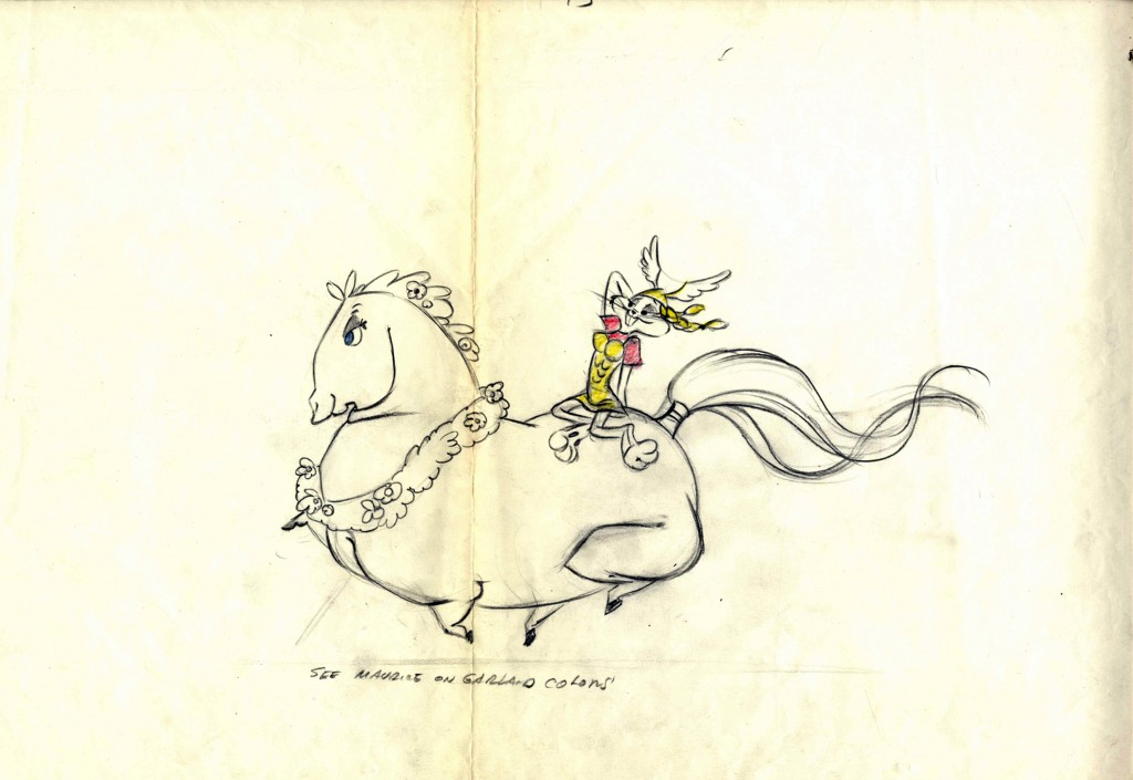 A character layout drawing from What's Opera, Doc? Photos: Chuck Jones Center for Creativity