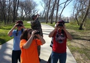 You can look for weasel riding woodpeckers at TRAC's spring break camp. (photo: Trinity River Audubon Center)