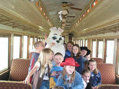Hop aboard the Bunny Train! Photo: Grapevine Vi