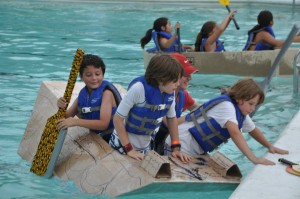Find out who sinks and who floats at the Cardboard Boat Races. Photo: Dallas Aquatics