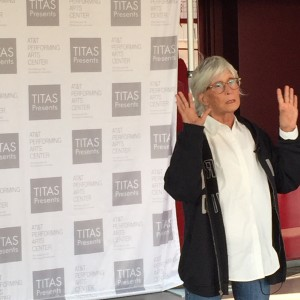 Twyla Tharp at the Winspear Opera House, September 16, 2015. Photo: Danielle Georgiou.