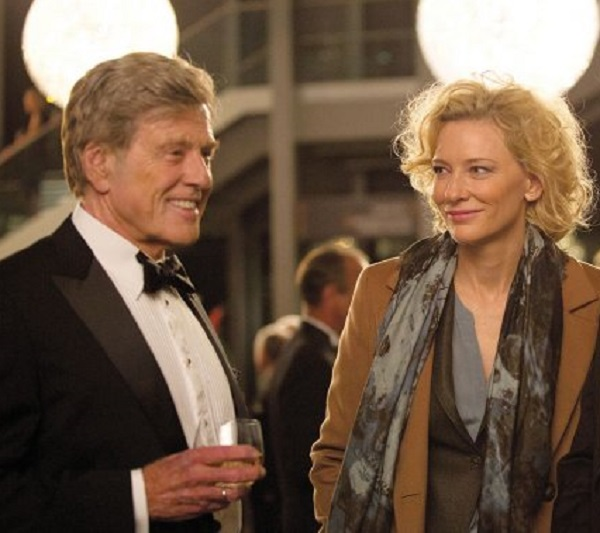 "Robert Redford as Dan Rather and Cate Blanchett as Mary Mapes in ""Truth."" Photo: Sony"