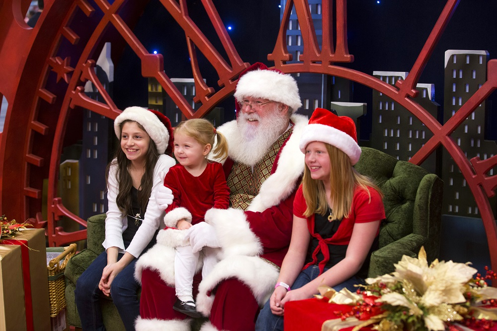 Families of children with special needs can meet Santa this Sunday at the Galleria. Photo: Galleria Dallas