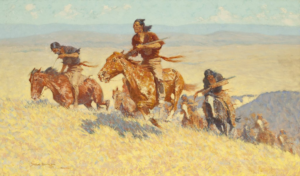 Frederic Remington | Buffalo Runners - Big Horn Basin | 1909 | Oil on canvas