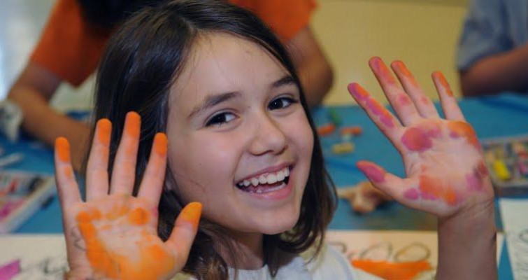Dive into creativity with a cool art camp. Photo: Kidz Art