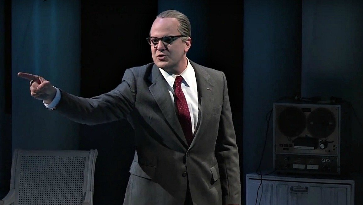Brandon Potter as Lyndon Johnson in the Dallas Theater Center's 'All the Way.'
