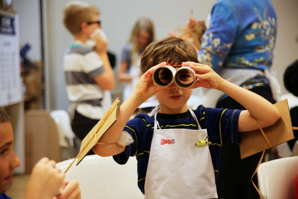 It's all about space at the Nasher Kids Camp. Photo: Nasher Sculpture Center