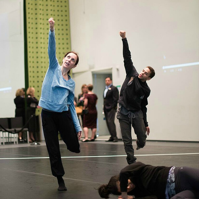 Dancers, including Albert Drake of the Bruce Wood Dance Project (right), rehearsing. Photo: Jerome Weeks