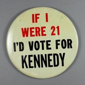 1960 campaign button