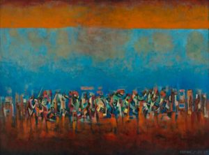 Norman Lewis (1909–1979) Title Unknown (March on Washington), 1965 Oil on fiberboard