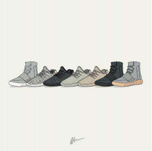 """It's that time again... Yeezy Season"" Artwork by Dan Freebairn of KickPosters.com"