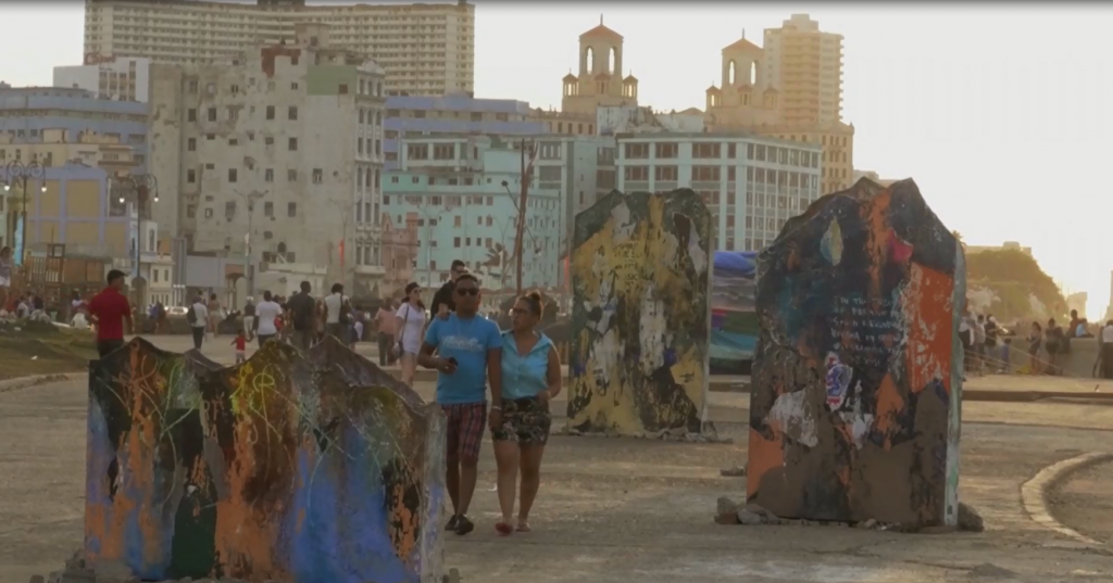 In Cuba, Mathews looked for artists and visited the oldest gallery in Havana.
