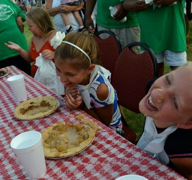 Everyone's a winner in a pie-eating contest! Photo: Uncle Willie's Pies