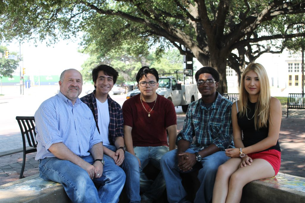 Peter Goldstein, Miguel Martinez, Jose Beltrán, Marquis Lynch and Daisy Telez. Photo: Hady Mawajdeh