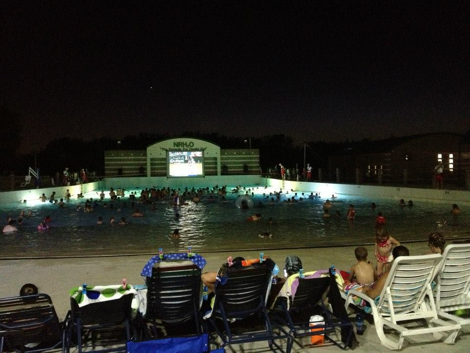 Catch a flick from the comfort of your beach chair. Photo: NRH2O