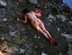 "Ana Mendieta's ""Silueta Sangrienta."" Photo: Nasher"