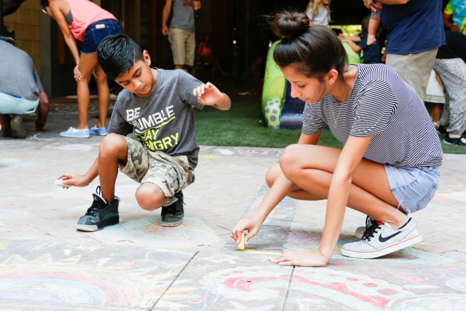 Make a chalk masterpiece at the Chalk Art Festival. Photo: Julien & Lambert Photographic Services