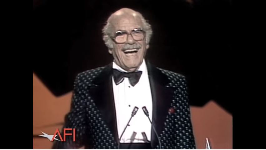 Capra receiving the AFI lifetime achievement award.