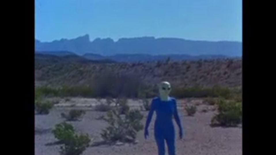 The martian wander in the desert.